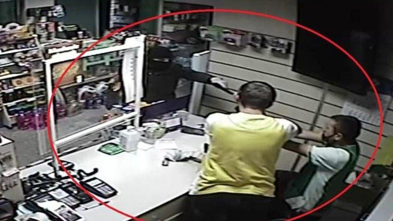 Samsun'da bir akaryakıt istasyonunda silahlı soygun