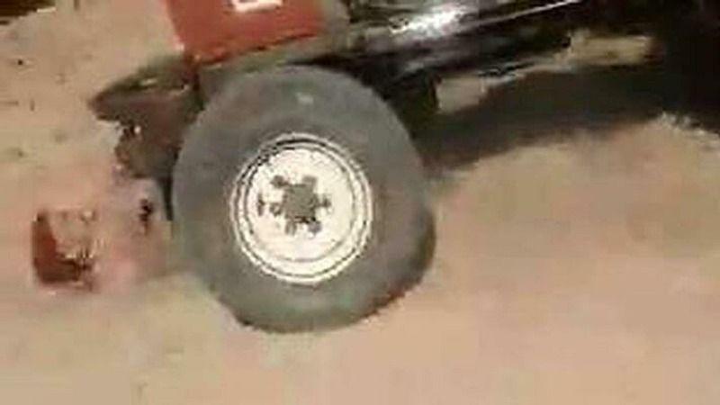 Miras için iki kardeş ablasını traktör ile ezmeye kalktı