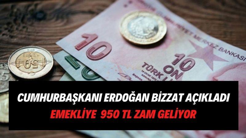 Cumhurbaşkanı Erdoğan emekli zammı için tarih verdi! BAĞ-KUR, SGK, SSK emeklisine 950 TL ek zam geliyor! Emekli rahat edecek
