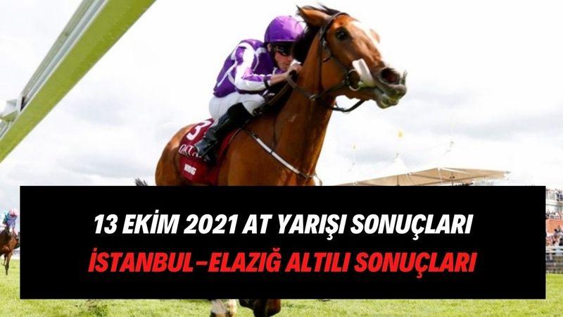 TJK canlı 13 Ekim 2021 Elazığ İstanbul at yarışı sonuçları! 13 Ekim 2021 altılı sonuçları