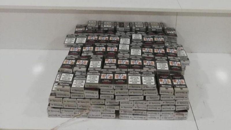 Sınır kapısında bin 160 paket kaçak sigara