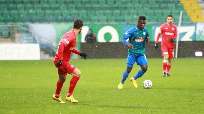 Çaykur Rizespor: 1 – Gaziantep FK: 0 (İlk yarı)