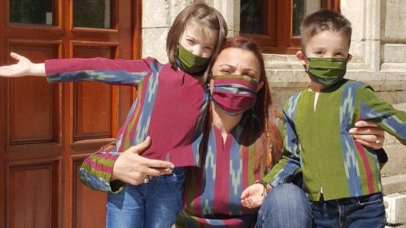 Gaziantepli tasarımcı çocuklar için kutnudan gömlek koleksiyonu hazırladı