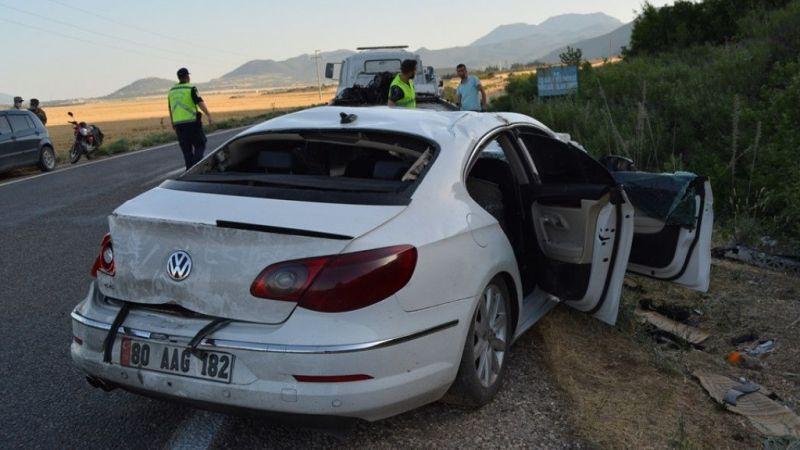 Gaziantep'te şarampole devrilen otomobildeki 4 kişi yaralandı