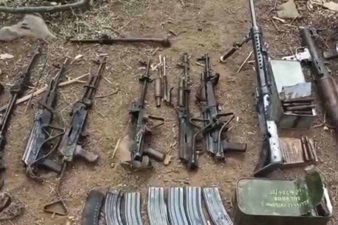Irak'ta PKK'ye ait çok sayıda silah ve mühimmat ele geçirildi