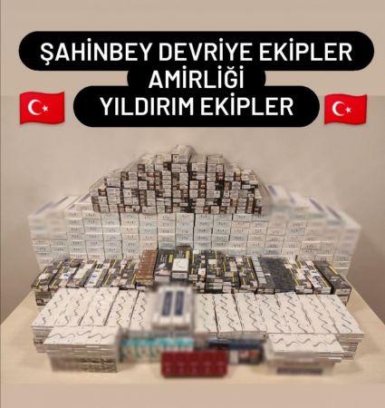 Gaziantep'te 4 bin 297 paket kaçak sigara ele geçirdi