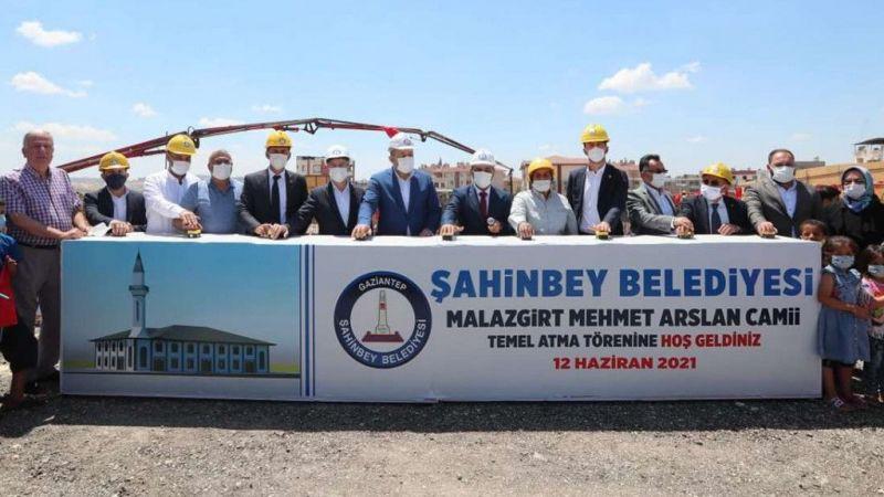 Gaziantep'te yeni yapılacak caminin temeli dualarla atıldı