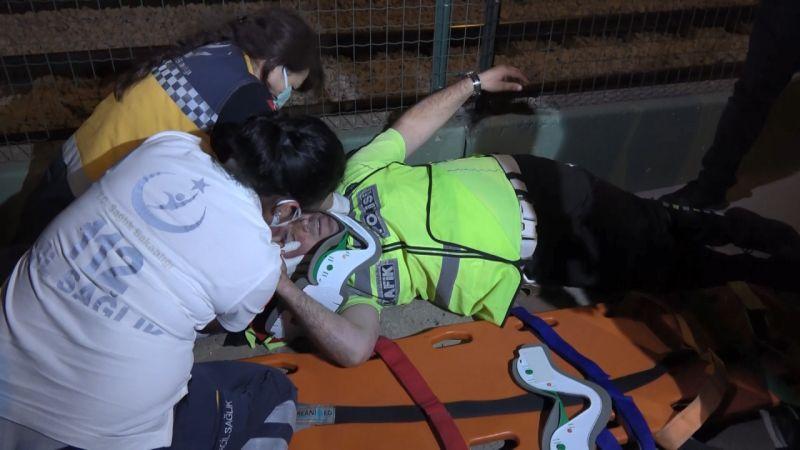 Kontrol noktasında polise çarpan alkollü sürücü: Polis otosu tersten geliyor diye gördüm