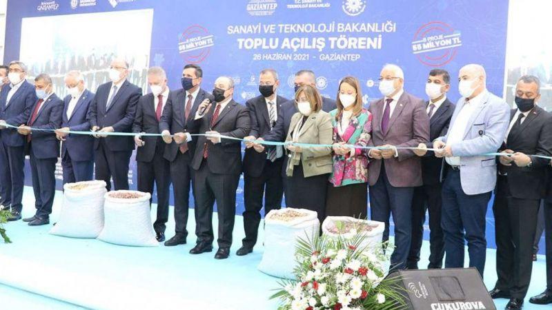 Sanayi ve Teknoloji Bakanı Varank Gaziantep'te 8 projenin açılışını yaptı