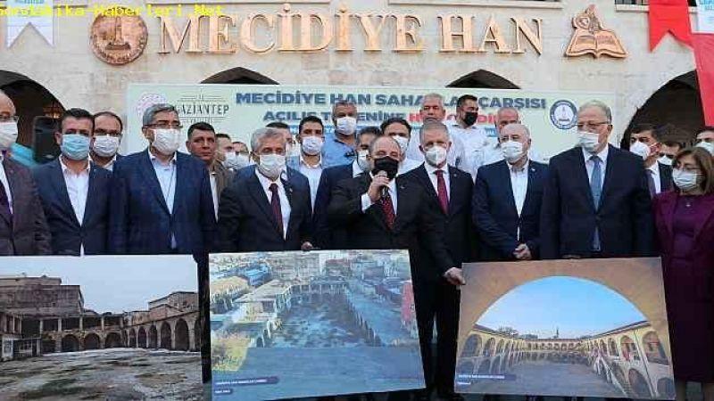 Bakan Varank, Tarihi Mecidiye Han'ın açılışını yaptı