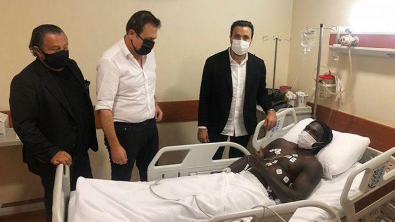 Beşiktaşlı yöneticilerden N'sakala'ya ziyaret