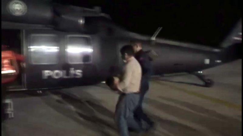 Polis helikopteri parmağı kopan bebek için havalandı
