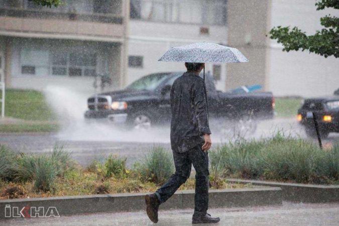 Meteorolojiden 8 il için gök gürültülü sağanak yağış uyarısı