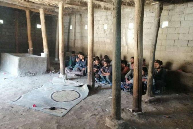 Ahırlara saklanmış 42 düzensiz göçmen yakalandı