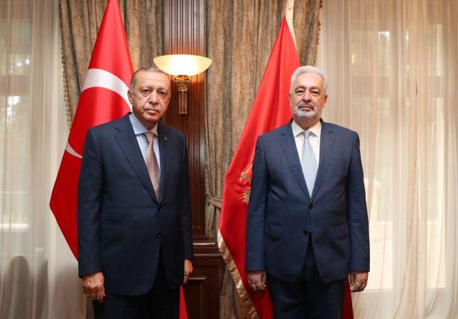 Cumhurbaşkanı Erdoğan, Karadağ Başbakanı Krivokapiç ile görüştü