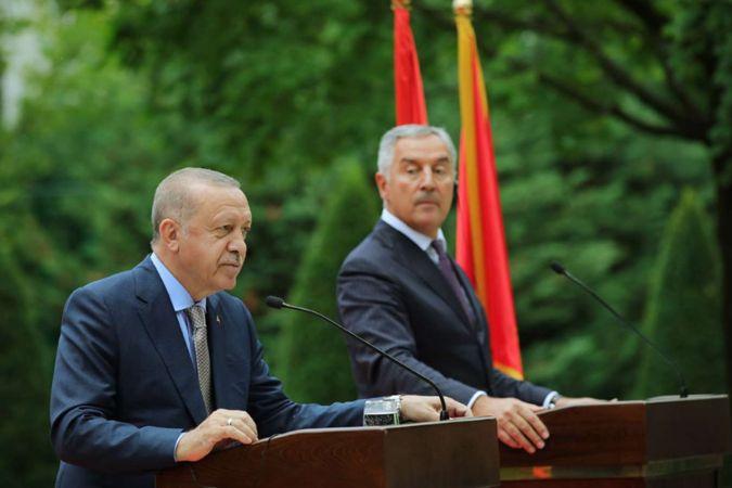 Cumhurbaşkanı Erdoğan Karadağ'da konuştu