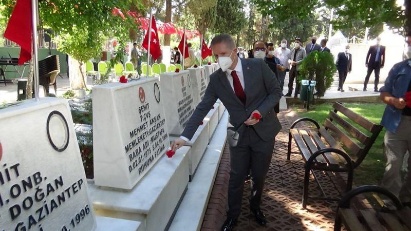30 Ağustos'ta Gaziantepli şehitler unutulmadı