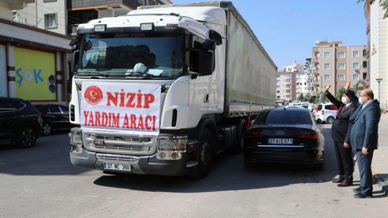 Gaziantep'ten selin etkilediği Kastamonu'ya yardım tırı gönderildi