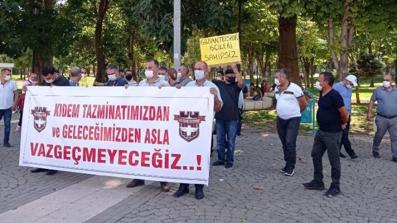 Gaziantepsporlu işçilerden eylem
