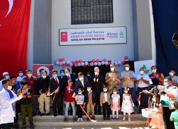 Suriye'nin Cerablus kentinde Eman Filistin Okulu açıldı