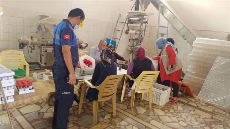 Gaziantep'te biber fabrikalarında denetim