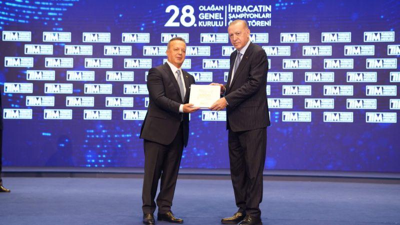 TİM 2020 İhracat Şampiyonları Ödül Töreni Cumhurbaşkanı Erdoğan'ın katılımıyla yapıldı