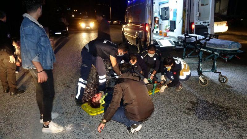 Motosikletlerin çarpıştığı kazada 2 sürücü de ağır yaralandı