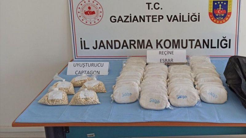 Gaziantep'te 12 kilogram uyuşturucu ve 9 bin 808 hap yakalandı