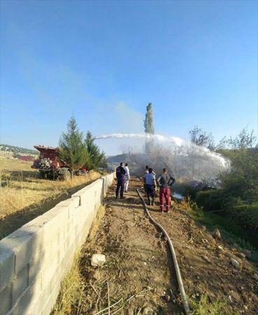 Gaziantep'te bahçe yangını söndürüldü