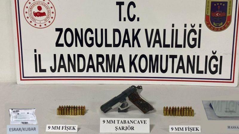Zonguldak'ta uyuşturucu ticareti yapan 1 kişi yakalandı