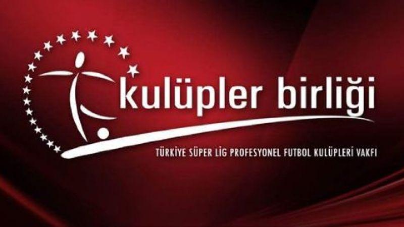 Kulüpler Birliği'nden Beşiktaş'a kutlama mesajı