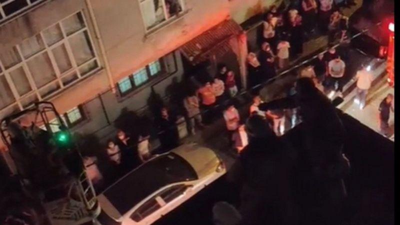 Küçükçekmece'de kadın 3'üncü kattan atladı, başka çatıya düştü