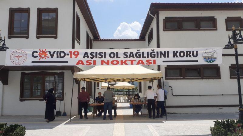 Osmancık'ta Covid-19 aşı uygulama noktası oluşturuldu