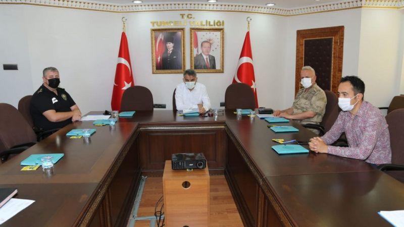 Tunceli'de güvenlik ve asayiş toplantısı