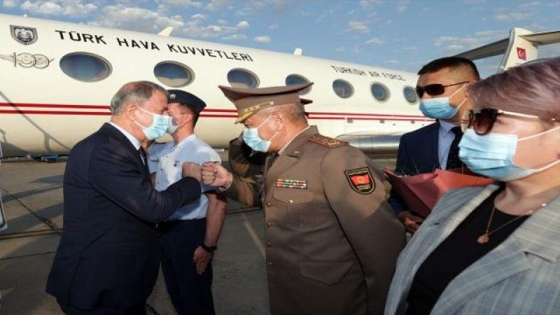 Milli Savunma Bakanı Akar, Türkiye'nin Bişkek Büyükelçiliğini ziyaret etti