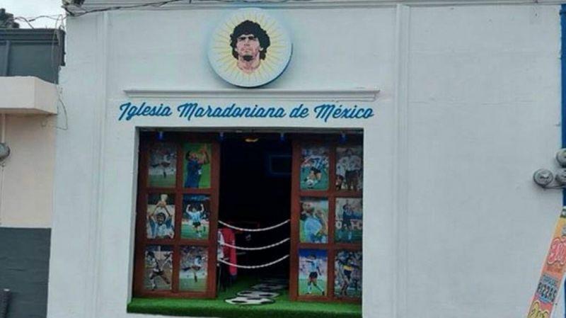 Meksika'da Maradona adına kilise açıldı