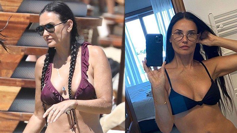 Demi Moore, kızı Rumer ile Yunanistan'da tatilde