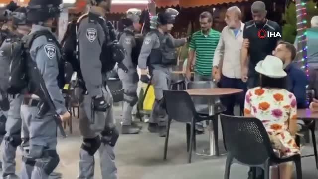 İsrail güçleri, Kudüs'te bir restorana baskın düzenledi