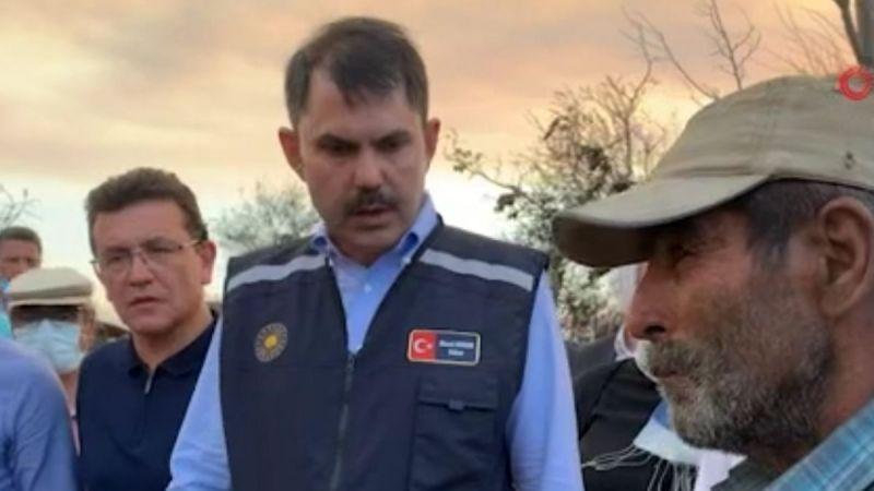 """Bakan Kurum yangın bölgesinde: """"Hızlı bir şekilde inşa edeceğiz"""""""