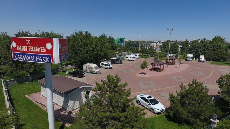 Karatay Belediyesi Karavan Parkı ilgi görüyor