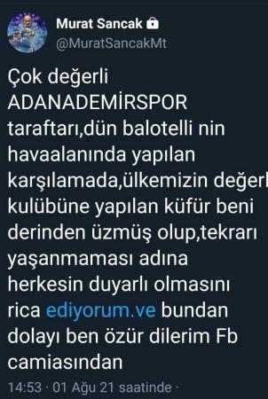Fenerbahçe'den özür diledi