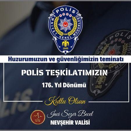 Vali İnci Sezer Becel'in 10 Nisan Polis Haftası mesajı