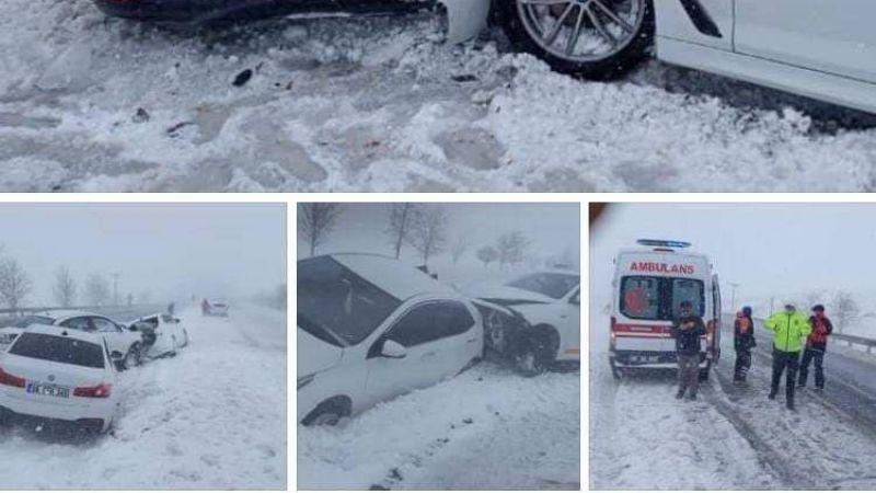 Zincirleme trafik kazası meydana geldi