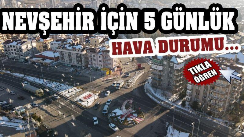 Nevşehir için 5 günlük hava durumu…