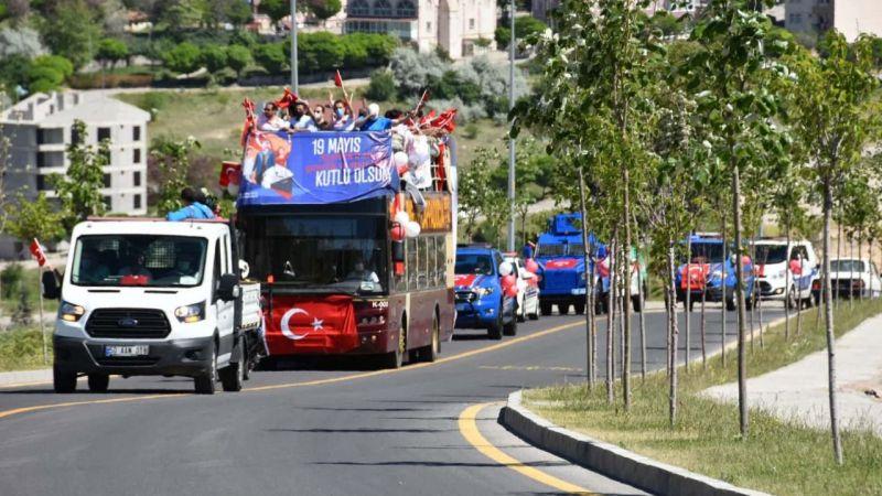 Nevşehir'de gençlik konvoyu düzenlendi
