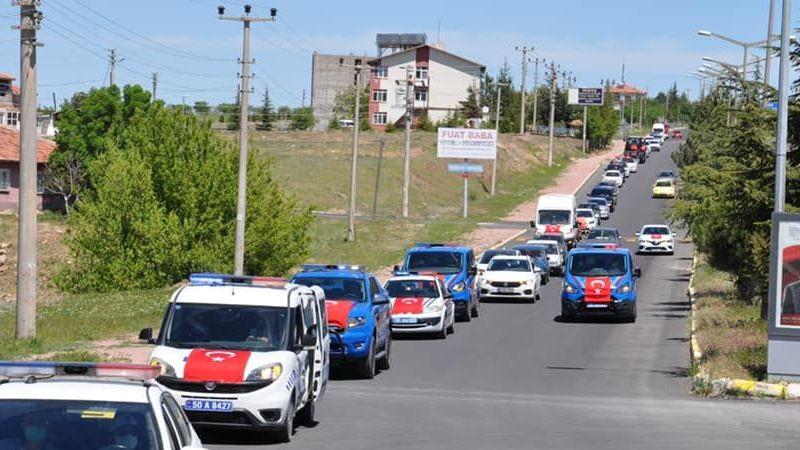 Hacıbektaş'ta bayram konvoyu yapıldı