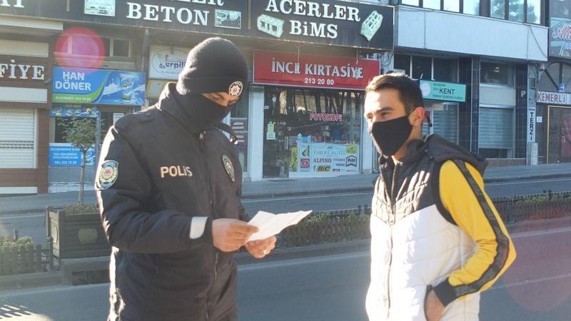 Polis, kısıtlamada işyerlerini açanları denetledi