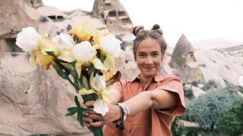 Ünlü oyuncu Kapadokya'da piknik yaptı