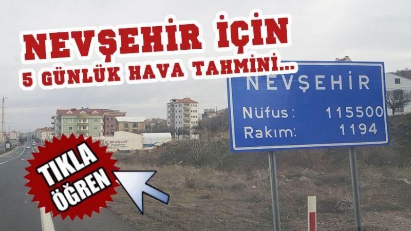 Nevşehir'de 3 gün yağış var