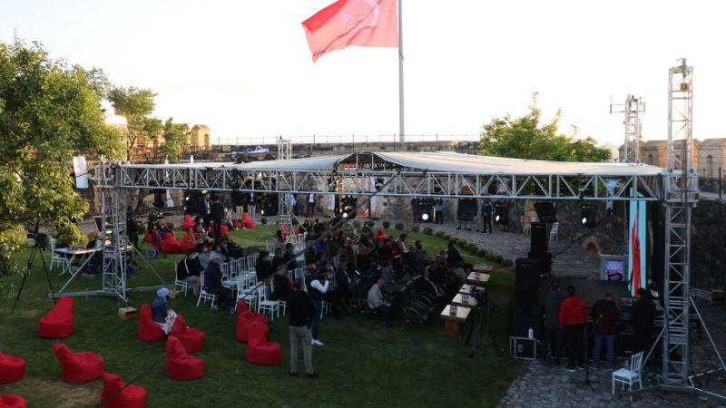 Film gösterimleri Nevşehir Kalesi'nde yapıldı